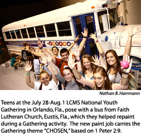 youth gath bus