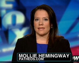 Mollie Ziegler Hemingway, an LCMS member and media critic who helped spotlight mainstream reporters' lack of coverage of the murder trial of Philadelphia abortion doctor Kermit Gosnell, talks with Fox News host Megyn Kelly April 12.