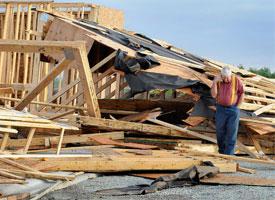 Storm levels Manteno, Ill., church construction