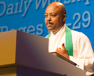 The Rev. Dr. Tilahun Mendedo, a native of Ethiopia and president of Concordia College, Selma, Ala., preaches a July 22 Morning Prayer sermon on Acts Chapter 8.