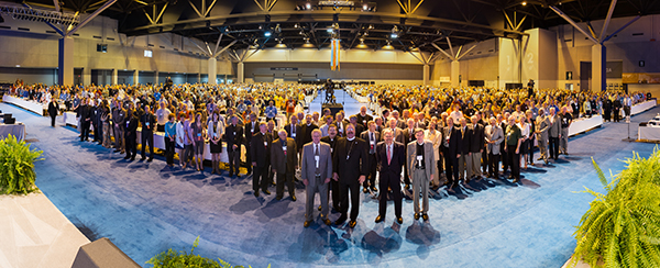 """This panoramic """"group shot"""" of participants attending the July 20-25 LCMS convention — by the Rev. Michael Schuermann of Sherman, Ill. — is available free online. (LCMS Communications)"""