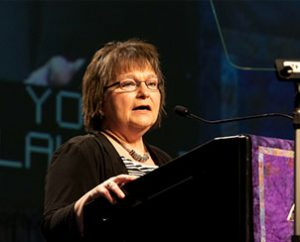 """LWML President Kay Kreklau said the auxiliary """"must continue in Bible study and prayer,"""" and she encouraged members to """"focus on missions, not meetings."""" (Lutheran Women's Missionary League/BBM Photo)"""