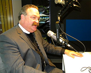 Broadcasts and newspaper articles share the Rev. Dr. Matthew C. Harrison's perspectives on his re-election as Synod president and the upcoming LCMS convention. (LCMS Communications/Joe Isenhower Jr.)