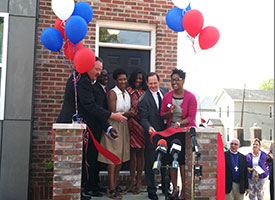 Ribbon-cutting marks housing ministry's latest work