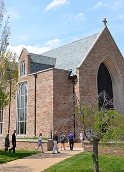 The Chapel of St. Timothy and St. Titus at Concordia Seminary, St. Louis, is the site of the Sept. 14, 2013, Service of Installation for LCMS officers and newly elected and appointed members of Synod boards and commissions. (Concordia Seminary/Emily Boedecker)