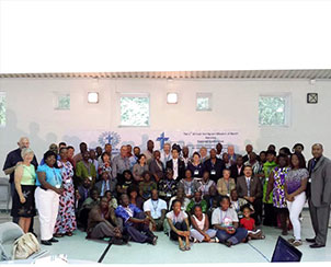 A group photo of some of those who attended the African immigrant conference, Aug. 9-11 in Bowie, Md. The next conference is being planned for August 2014 in Fort Wayne, Ind. (African Lutheran Mission in the Americas)