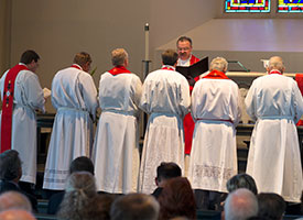 LCMS president, officers and board, commission members installed