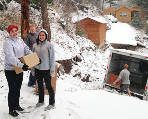 During spring break, students from University Lutheran Chapel helped with flood-recovery efforts in Estes Park, Colo.