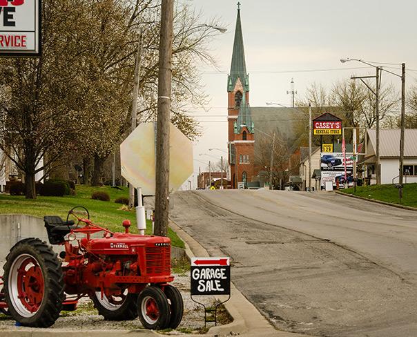 St. Paul's Lutheran Church along Main Street in Concordia, Mo.