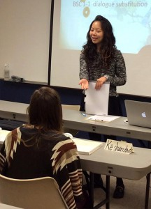 Ling-Yi Shao teaches a Beginning Mandarin 1 class at Concordia University, Nebraska, in Seward, Neb. This fall the school began offering a Chinese teaching endorsement for education students. (Concordia University, Nebraska)