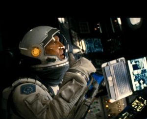 """In the movie """"Interstellar,"""" Matthew McConaughey stars as Cooper, a former engineer and NASA pilot who leaves his family to pilot a spacecraft on an interstellar mission in an effort to save humanity."""