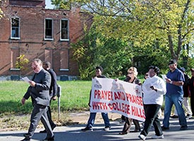 Prayer walk inspires hope of renewal for College Hill residents