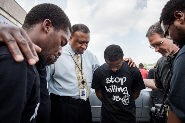 Comforting in Ferguson, Mo.