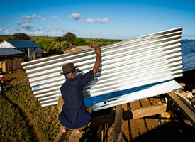Photo gallery: Mercy grant provides roofs to malagasy lutheran churches