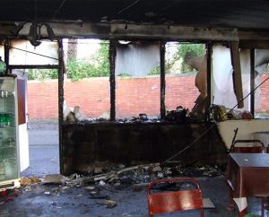 Extensive vandalism and fire damage to St. Timothy's Lutheran Church in Sunderland, England, is being investigated as arson. The congregation is a member of the Evangelical Lutheran Church of England, an LCMS partner church. (Photo courtesy of Steve Edge)
