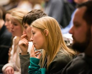 Participants listen to a speaker at the 2015 LCMS Life Conference Jan. 23 at the Crystal City Hilton Hotel in Arlington, Va. (LCMS/Erik M. Lunsford)