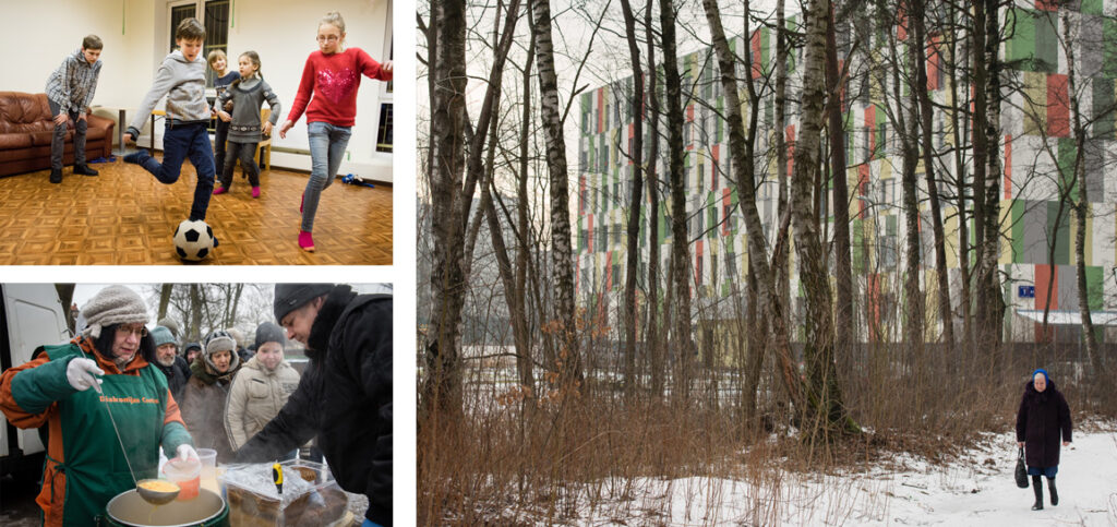 Top left: Children play together at the Generations Day Care Center in Riga, Latvia. Bottom left: (Erik M. Lunsford/LCMS Communications)