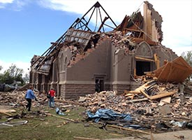 Despite demolished church, 'amazing gratitude' after twister