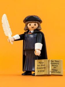 Concordia Publishing House is now accepting orders for the fastest-selling Playmobil figure of all time —a likeness of reformer Martin Luther, complete with quill pen and New Testament.