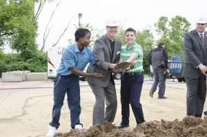 Breaking ground at the Empowerment Center in Ferguson, MO.