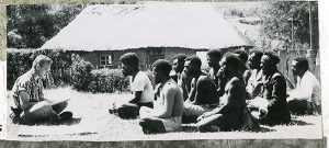 The Rev. Dr. Otto C. Hintze Jr. teaches Enga evangelists as part of his early mission work in Papua New Guinea. Hintze's new book chronicles the challenges Lutheran missionary families faced as they brought the Word of God to the central highlands of New Guinea after World War II. (Courtesy of Otto Hintze)