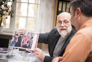 The Rev. Thomas Seifert, pastor of Paul-Gerhardt Gemeinde, a SELK Lutheran church in Braunschweig, Germany, discusses his work with refugees during a planning meeting at the SELK headquarters on Thursday, Nov. 12, 2015, in Hannover, Germany. (LCMS/Erik M. Lunsford)