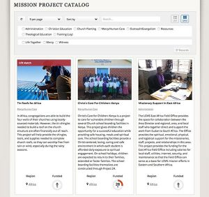The new mission-project catalog — available on the LCMS website — describes specific national and international mission projects open to receiving gifts and offerings.