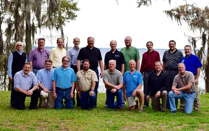 Representatives of three confessional Lutheran synods gather for a group shot Dec. 2 in Jacksonville, Fla., when they accepted a report on informal dialogues they have held over the past three years. (Courtesy of Albert B. Collver III)