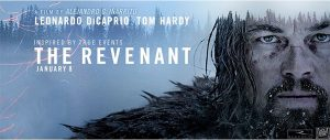 """""""The Revenant,"""" starring Leonardo DiCaprio as real-life folk hero Hugh Glass, is a tale of revenge set in the American frontier of the 1820s. The film has won three Golden Globe awards (including Best Motion Picture — Drama) and has 12 Oscar nominations."""