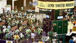 Since 1980, thoughts of LCMS youth have completed the Youth Poll located at the 'Youth Booth' at the Gathering. Photo from the 2010 Gathering, We Believe, in New Orleans, LA.