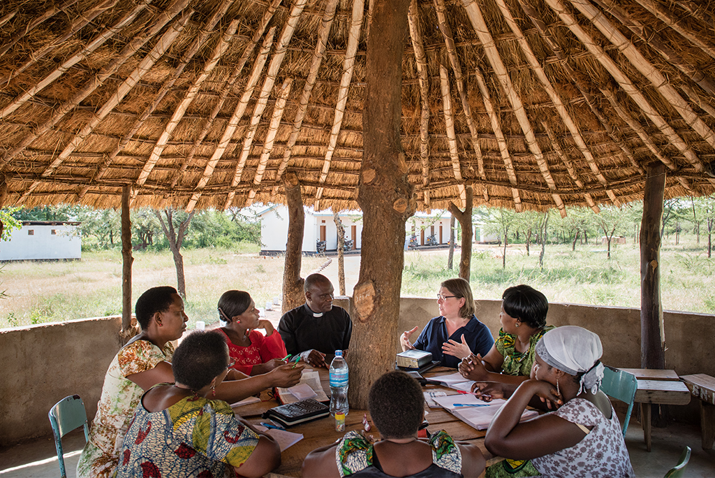 LCMS Deaconess Amy Rast of Fort Wayne, Ind., teaches deaconess students in Shinyanga, Tanzania, Africa. At its Jan. 28-29 meeting, the LCMS Board for International Mission explored the significance of Christianity in Africa. (LCMS/Erik M. Lunsford)