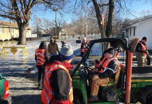 Disaster responders from the Central and Northern Illinois Districts and Lutheran Church Charities help residents of Watseka, Ill., recover from flooding Jan. 2 in the aftermath of severe rainstorms in late December. (Stephen Born)