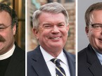 The nominees for LCMS president are, from left, Rev. Dr. Matthew C. Harrison, incumbent; Rev. Dr. Dale A. Meyer, president of Concordia Seminary, St. Louis; and Rev. Dr. David P.E. Maier, president of the LCMS Michigan District.