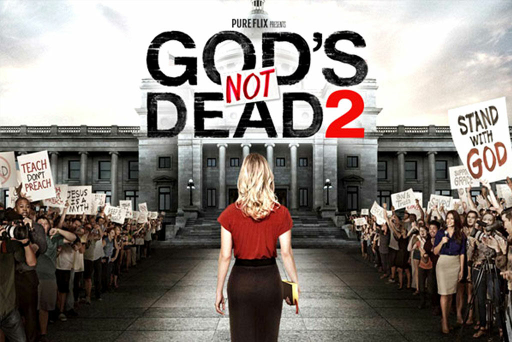 """While """"God's Not Dead 2"""" deals with a serious topic — the persecution of Christians within the increasingly volatile arena of public discourse — it is not a serious or particularly good film, writes reviewer Ted Giese."""