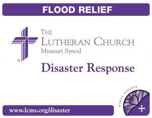2012 Disaster Response bucket label