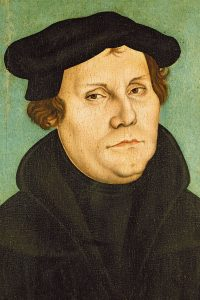 Martin Luther (portrait by Lucas Cranach)