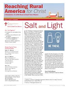 September 2016 Rural & Small Town Mission newsletter