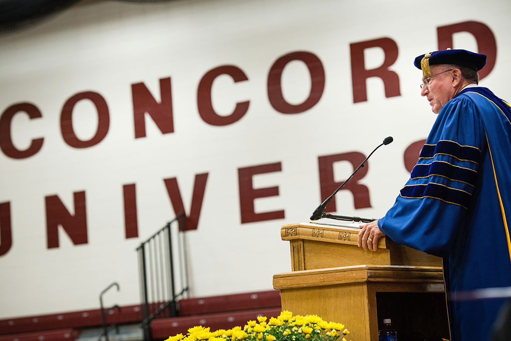 Dr. Dean O. Wenthe, president of the Concordia University System