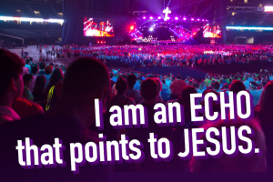 At the 2016 LCMS Youth Gathering, we learned in Christ alone, our lives echo Christ's humility. Participants were challenged to ask themselves how they are echoes.