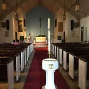 The sanctuary at Shepherd of the City Lutheran Church