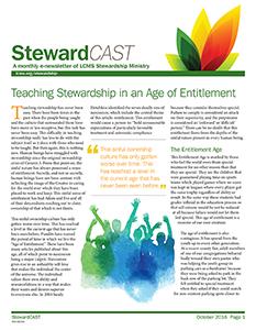 LCMS October 2016 StewardCAST Newsletter