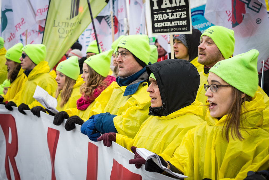 Lutherans lead the 2016 March for Life on Jan. 22 in Washington, D.C. The 2017 March for Life is Jan. 27 in Washington, D.C., and the LCMS Life Conference is Jan. 27-29 in Arlington, Va. (Michael Schuermann for LCMS Communications)