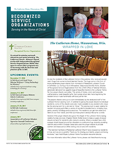 Recognized Service Organizations: 2016 Fourth Quarter Newsletter