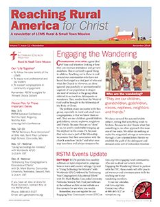 LCMS November 2016 Rural & Small Town Mission (RSTM) Newsletter