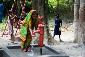 The new water well provided for St. Peter Lutheran Church and School.