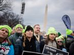 LCMS President Rev. Dr. Matthew C. Harrison (center, in clerical collar) joins fellow Lutherans from around the United States during the Jan. 22, 2015, March for Life in Washington, D.C. To his right is the Rev. John Fale, executive director of the LCMS Office of International Mission. (LCMS/Erik M. Lunsford)