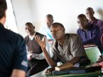 Pastoral students take part in a class at a training center of the Evangelical Lutheran Church in Tanzania. Funds from the LCMS National Offering will be used to strengthen theological education in international mission fields served by the Synod. (LCMS/Erik M. Lunsford)