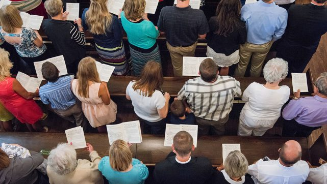 Synodwide statistics indicate that although LCMS congregations' total baptized and communicant memberships continued to decline for 2015, their worship attendance, contributions, and specialized ministries and worship services were up for the year — compared with 2014. (LCMS/Erik M. Lunsford)