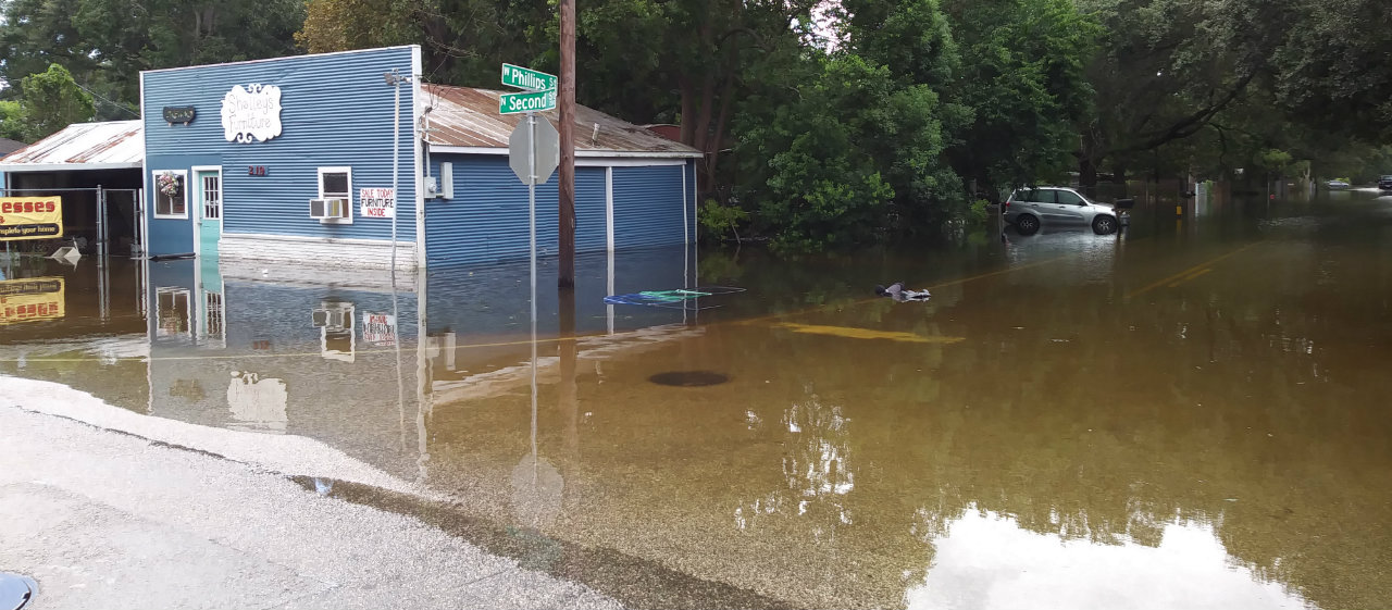 Alvin, Texas, (just a short drive from the author's home in Friendswood) on August 30.  Photo credit: Jennifer Davis