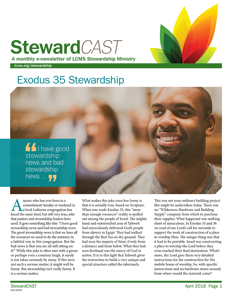 LCMS April 2018 StewardCAST Newsletter